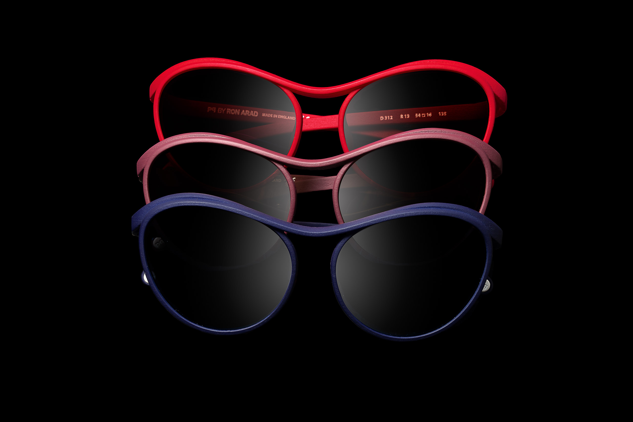 Occhiale progettato da Ron Arad e stampato in 3d dalla PQ Spa, Fotografia di Larix Studio